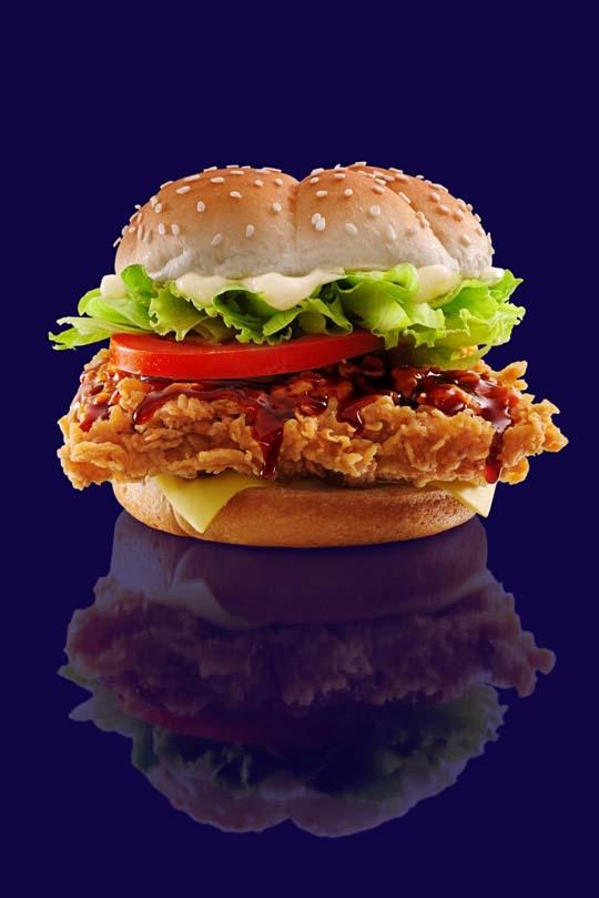 "KFC ""So Hot, So Korean"" Spicy Korean Burger"