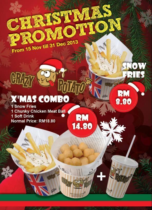 Christmas Promotion @ Crazy Potato