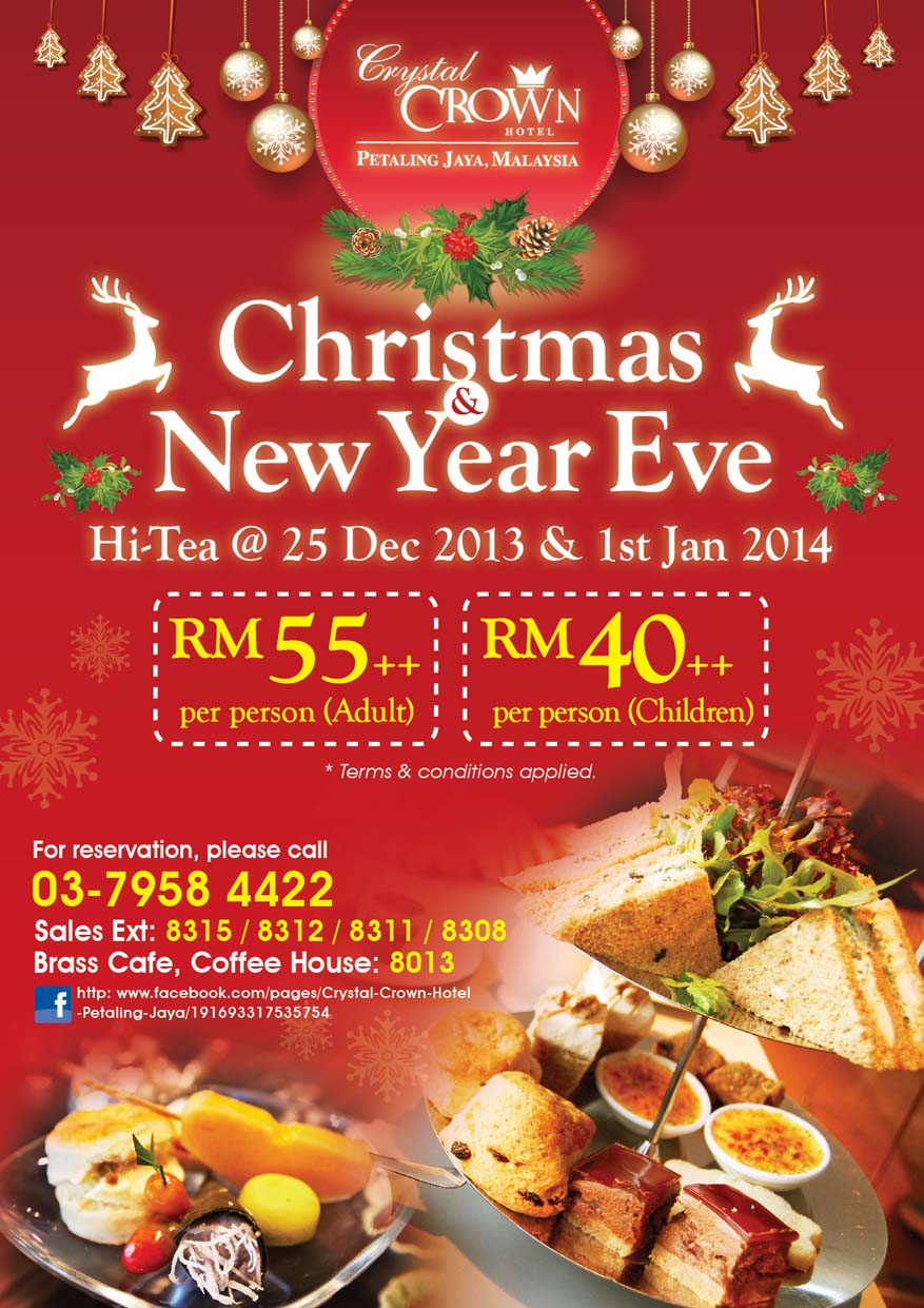 Christmas & New Year Eve Hi-Tea @ Crystal Crown Petaling Jaya