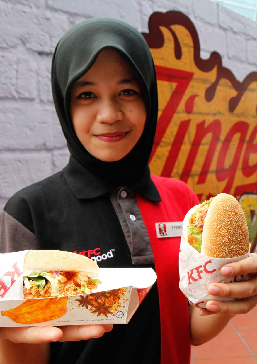 New Zinger Reloaded Burger @ KFC Malaysia