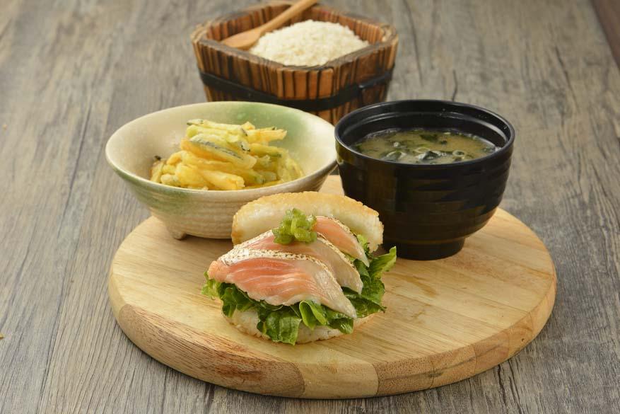 Japanese Rice Burgers @ Sushi King