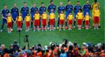 argentina players line up 2014 fifa world cup brazil final