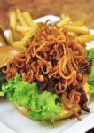 tgi friday's western food cowboy triple meat burger
