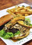 tgi friday's western food mushroom chicken burger