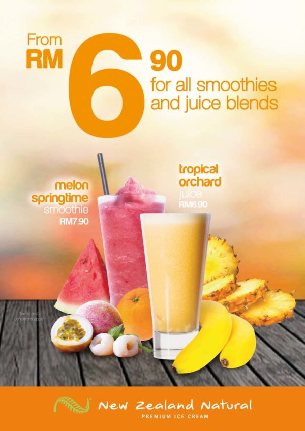 Juice Blends and Smoothies Promotion @ New Zealand Natural Malaysia