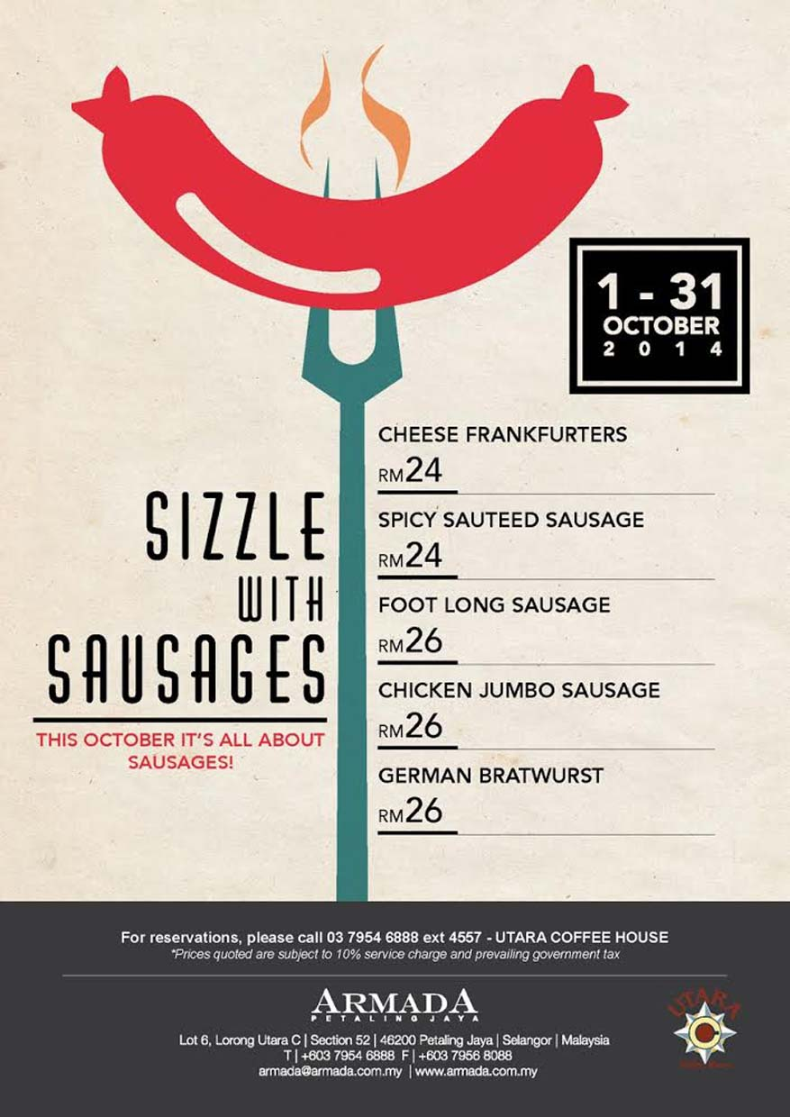 October Promo : Sizzle with Sausages @ Armada Petaling Jaya