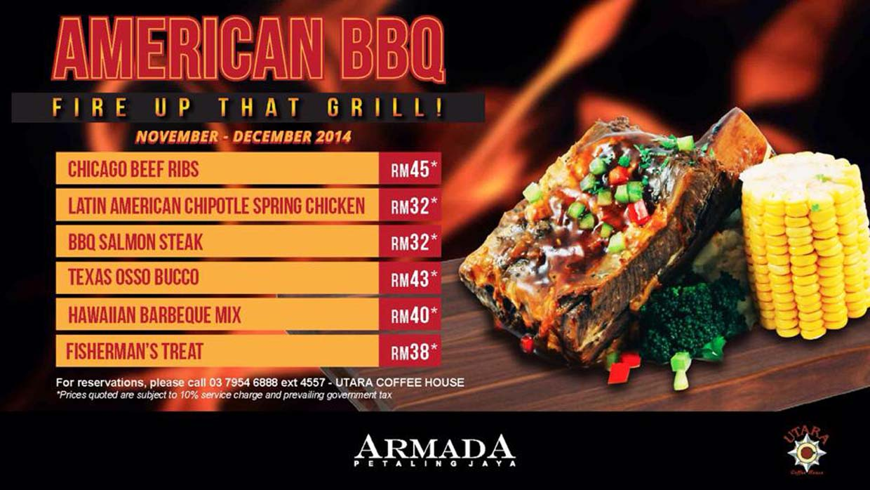 Nov & Dec Promo : American BBQ @ Armada Petaling Jaya