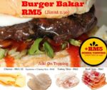 burger bakar abang burn seksyen 7 shah alam toppings