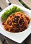comic themed bmon cafe kota damansara chicken bolognese spaghetti