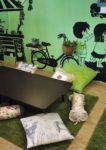 comic themed bmon cafe kota damansara interior