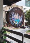 comic themed bmon cafe kota damansara signage