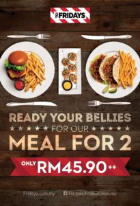 Meal For Two @ TGI Friday's Malaysia