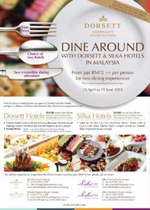 Dine Around with Dorsett & Silka Hotels in Malaysia