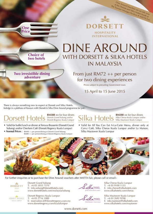 Dine Around with Dorsett & Silka Hotels in Malaysia