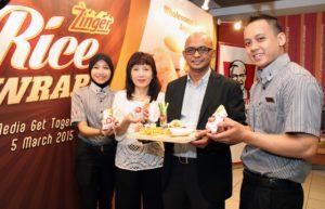 The New Zinger Rice Wrap @ KFC Malaysia