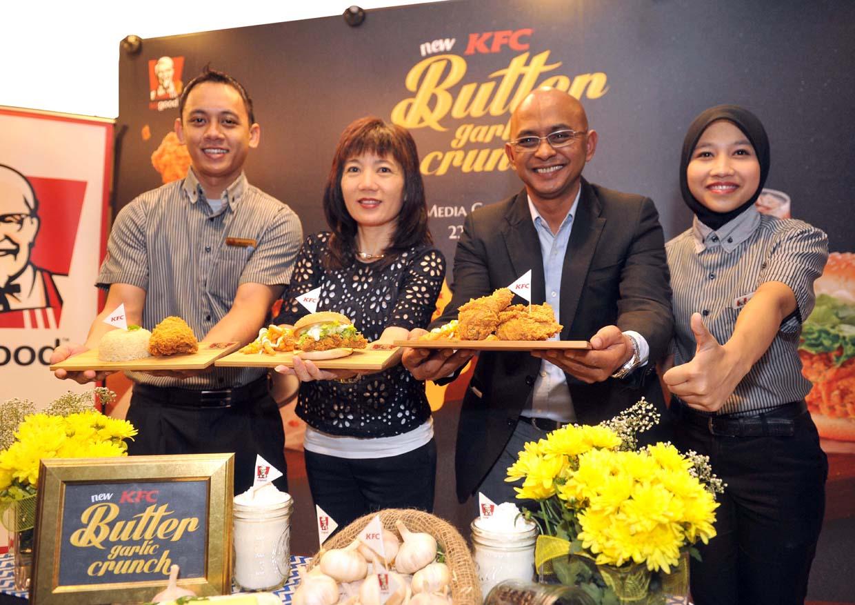 New KFC Butter Garlic Crunch Chicken And Butter Garlic Burger