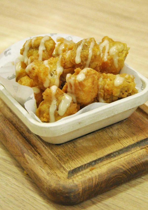 ny steak shack western food sunway pyramid fried mushrooms