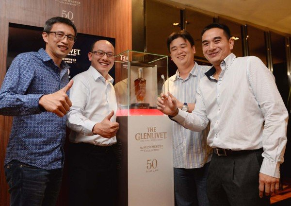 the glenlivet single malt scotch whisky winchester collection bid winner