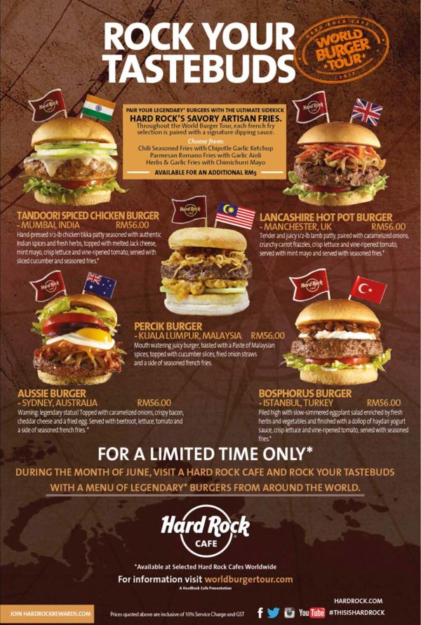 Hard Rock Cafe Menu With Prices