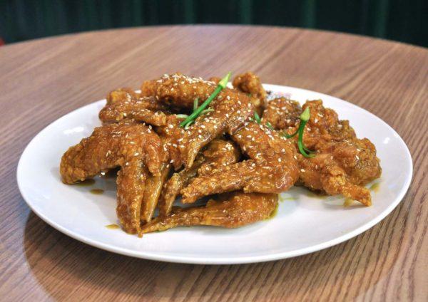 pelicana chicken malaysia korean food ecurve mutiara damansara spring onion peli yangNyeom chicken