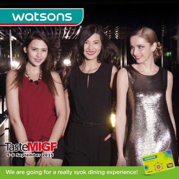 Watsons @ Taste MIGF 2015 To Reward VIP Members