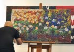 coffee and art fringe festival asia 2015 caffa publika justin y finger painting artist