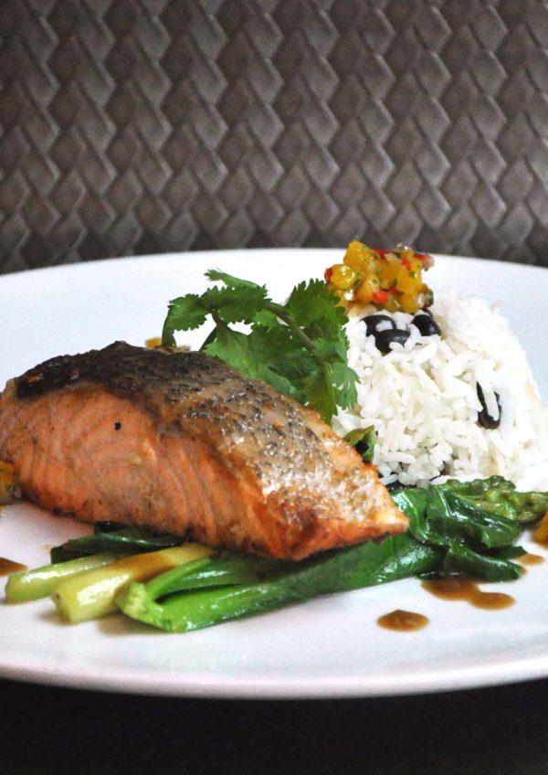 wip western cuisine bangsar shopping centre garlic pan seared salmon