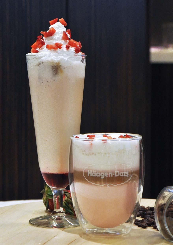 haagen dazs ice cream flavoured latte illy coffee strawberry