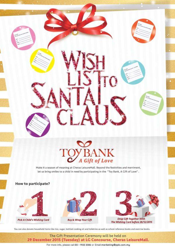 cheras leisuremall christmas 2015 toy bank a gift of love