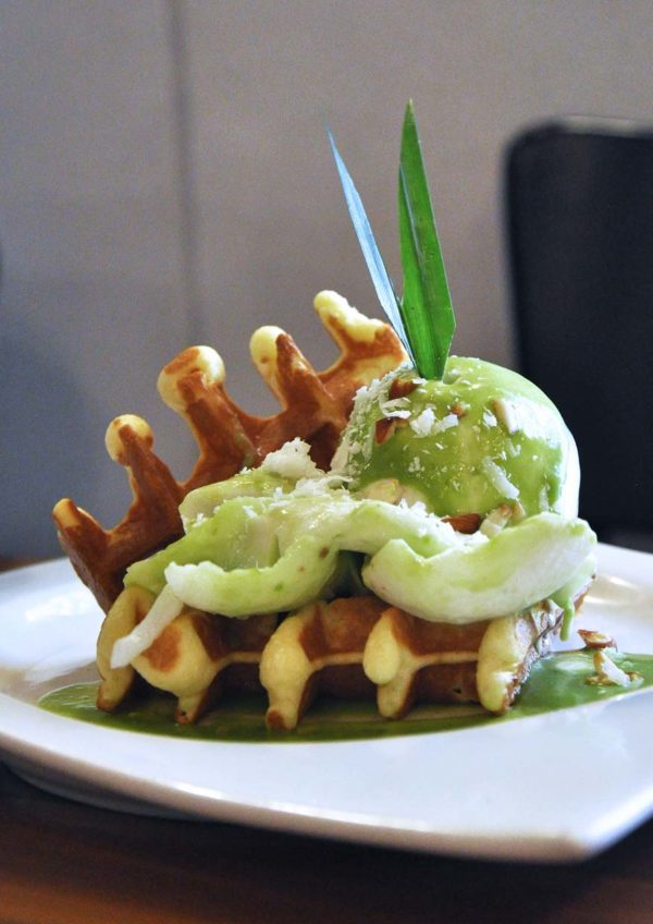 handmade waffle american diner restaurant chequers taman tun dr ismail tropic coconut