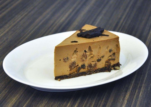 delicious new menu chocolate raisin cheesecake