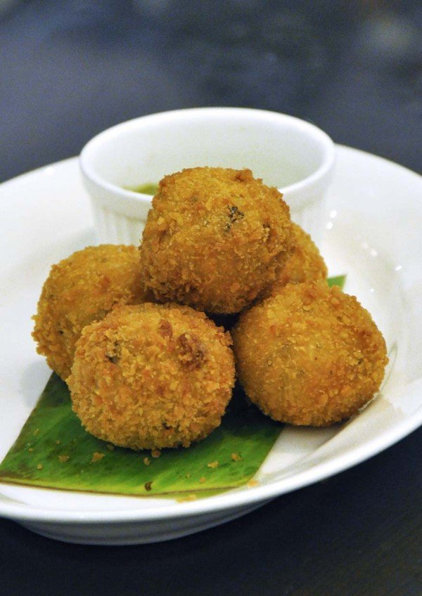 delicious new menu pumpkin risotto balls