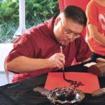 chinese new year street market 2016 da men usj subang jaya caligraphy