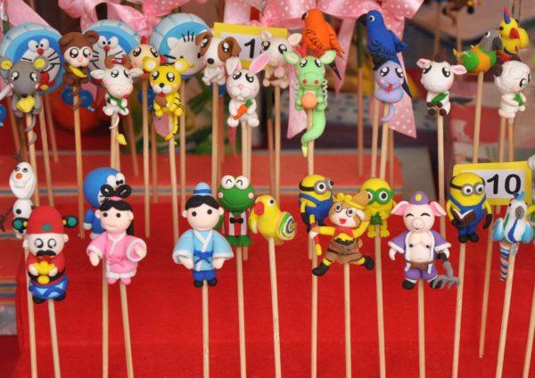 chinese new year street market 2016 da men usj subang jaya clay cartoon