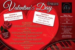 Valentine's Promotion 2016 @ SKY 360°, eCity Hotel @ One City, Subang Jaya
