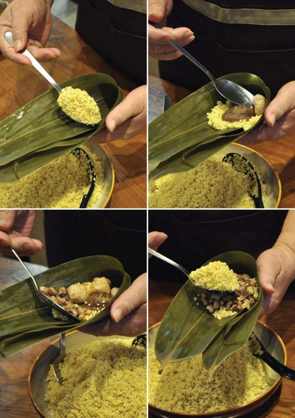 bms organics rice dumpling wrapping