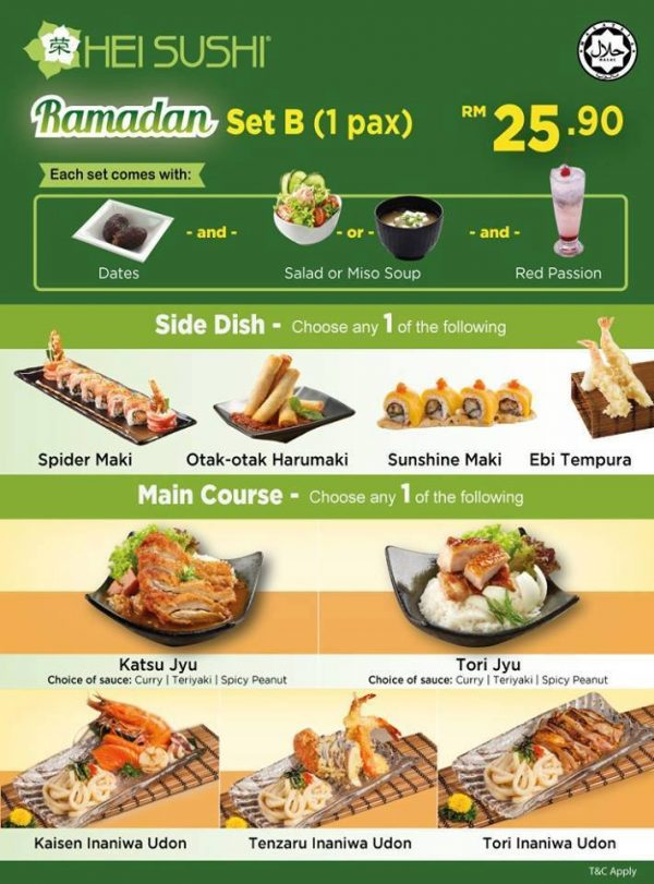 ramadan 2016 hei sushi halal japanese restaurant set b