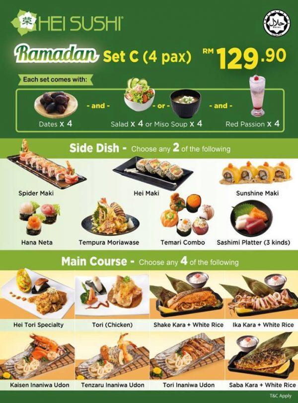 ramadan 2016 hei sushi halal japanese restaurant set c