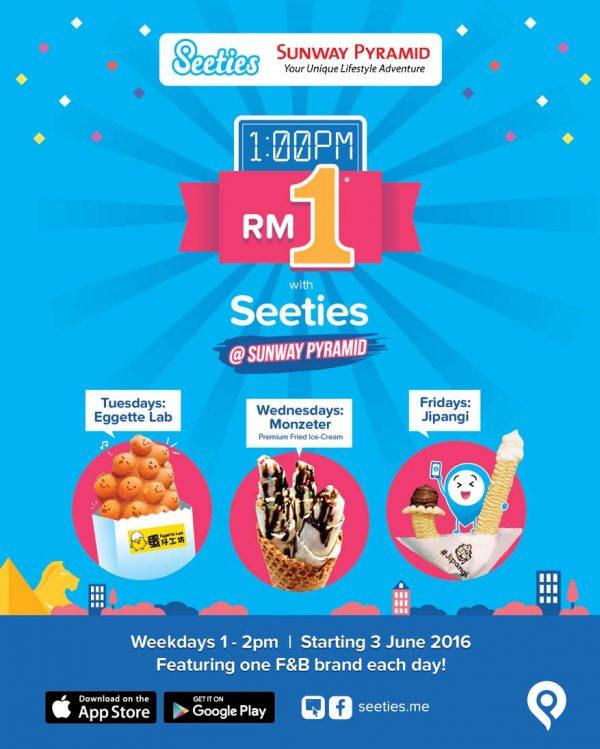 rm1 sweet treat sunway pyramid seeties app promo
