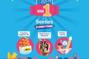 RM1 Sweet Treats @ Sunway Pyramid with Seeties App