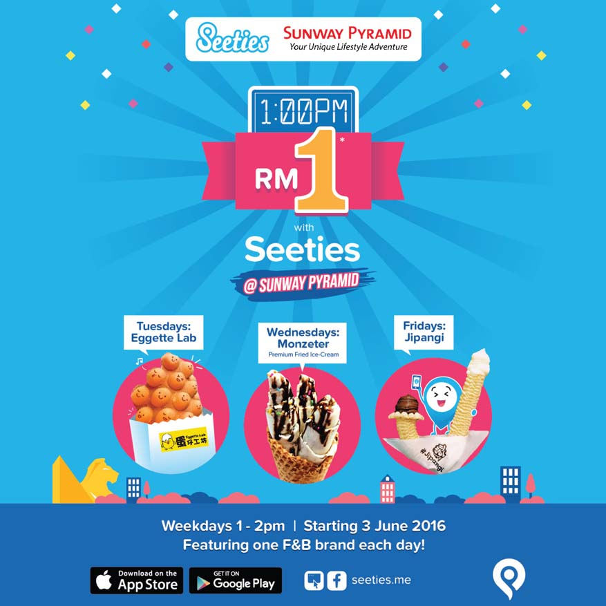 RM1 Sweet Treats @ Sunway Pyramid with Seeties App