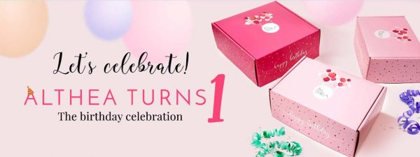 althea turns one birthday celebration banner