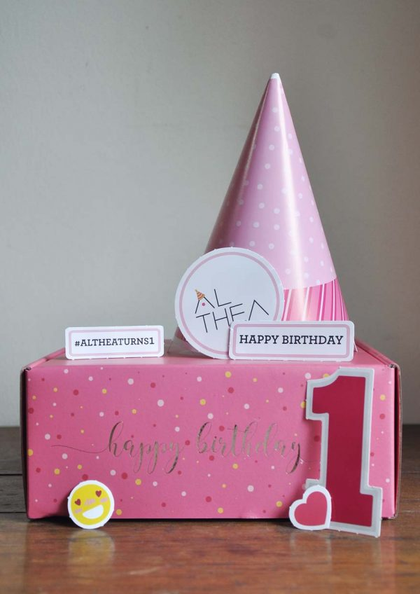 althea turns one birthday celebration party kit