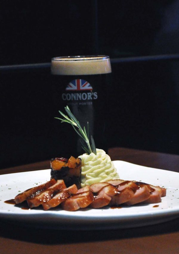 the connor experience by connor stout porter smoked duck breast at nicsmann 1940s by lewré