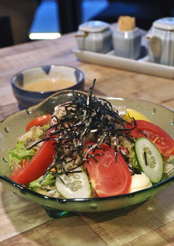 sumiya izakaya taman segar cheras japanese cuisine salmon skin salad