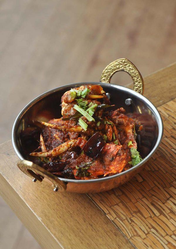 chettinad banana leaf meal zest lifestyle restaurant putrajaya marriott hotel pepper fried crab