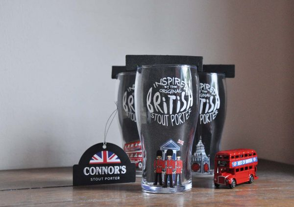 gift made right connors stout porter british inspired limited edition pint glass