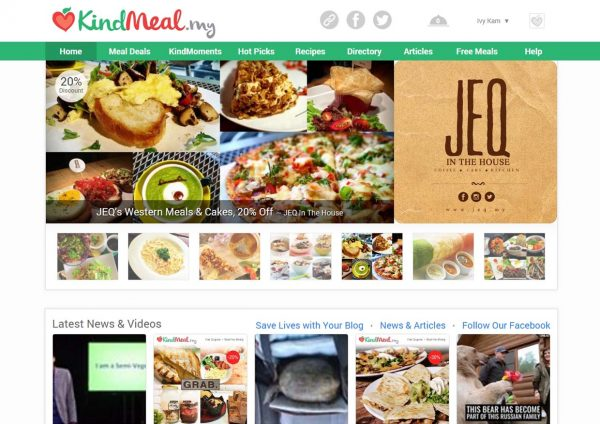 kindmeal meat-free dining website