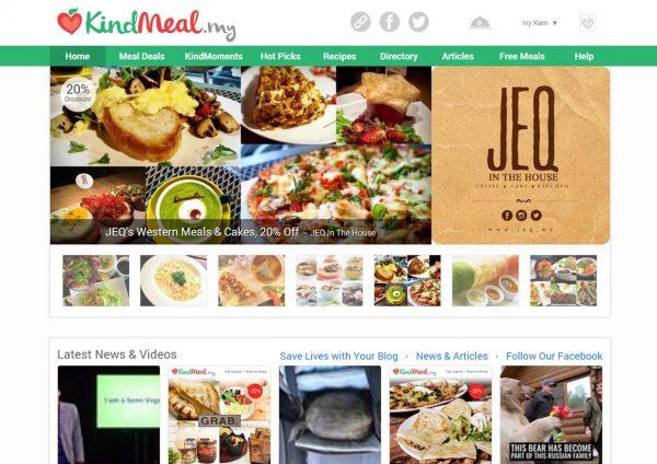 kindmeal meat-free dining website