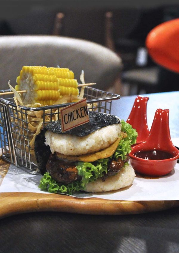 sanoook thai japanese fusion sunway pyramid west hotel chicken burger